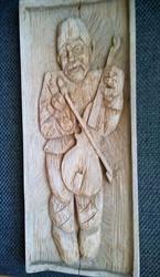 Картина по дереву старая Сымон Музыка